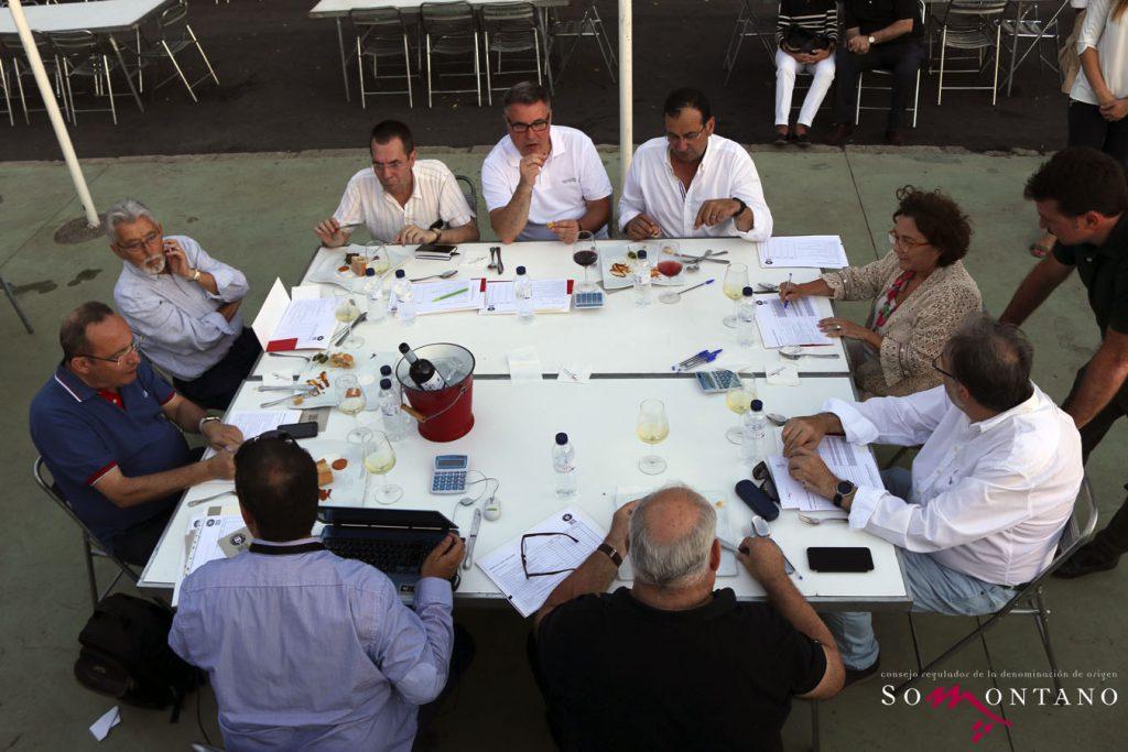 JURADO CONCURSO DE TAPAS en fase final Festival Vino Somontano 2016 ©Video Producto Online_MG_jurado_2 copia