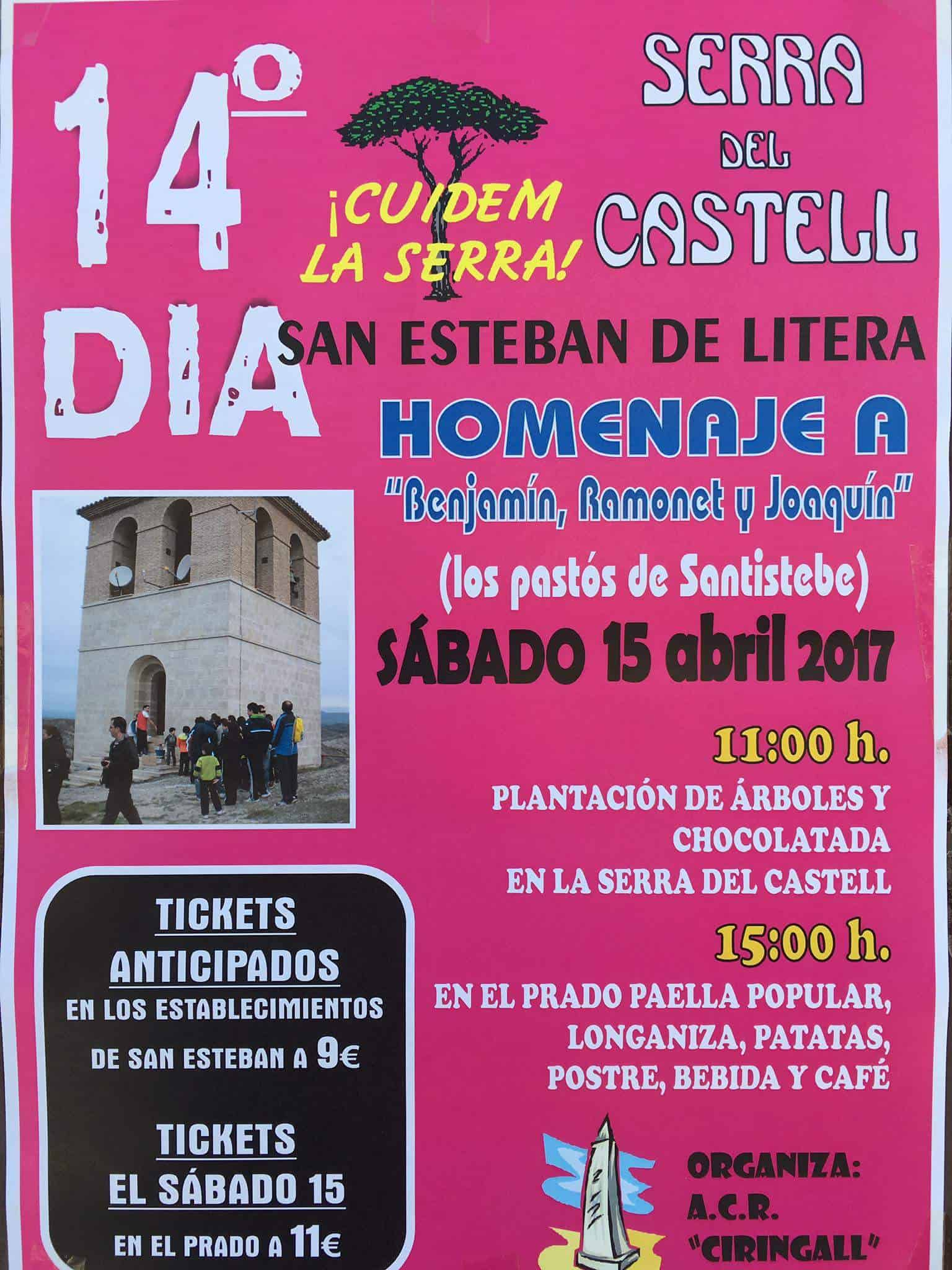 san esteban de litera celebrar su xiv d a de la serra del castell el 15 de abril gente con. Black Bedroom Furniture Sets. Home Design Ideas