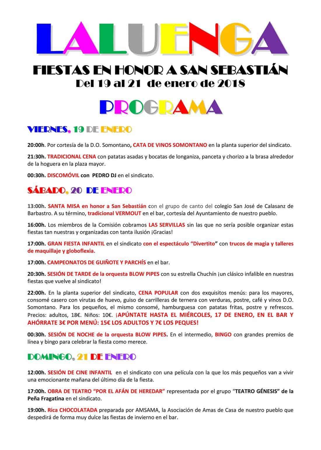 Fiestas de san Sebastián en Laluenga del 19 al 21 de enero   Gente ...