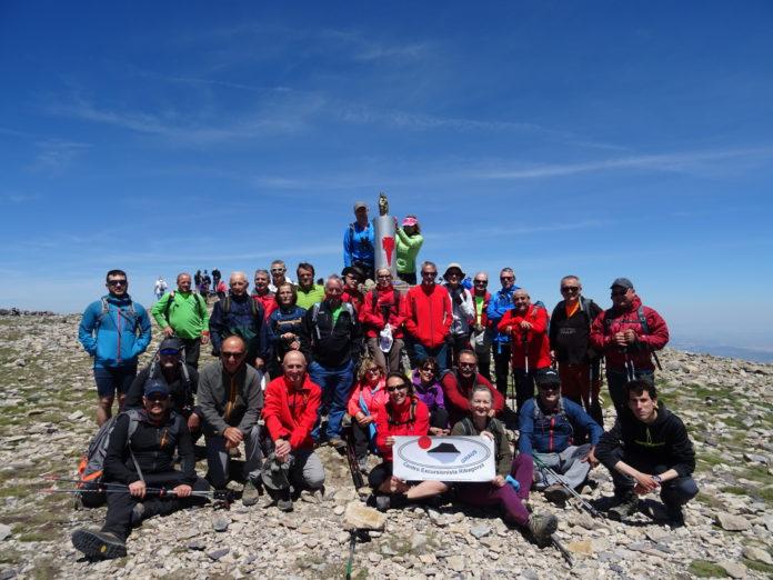 Los del CER en la cumbre del Moncayo (Foto: CER)
