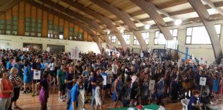 Participantes de la pasada edición en el pabellón de Benasque (Foto: Servicio especial)