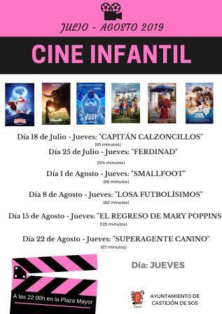 Castejón de Sos, cine de verano infantil