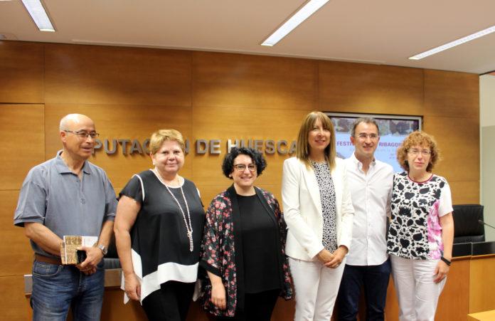 Representantes de la comarca ribagorzana en la presentación del Festival (Foto: DPH)