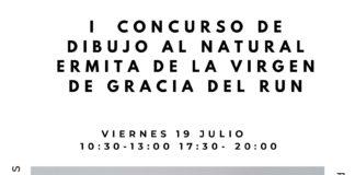 Cartel del I concurso de dibujo al natural ermita de la Virgen de Gracia