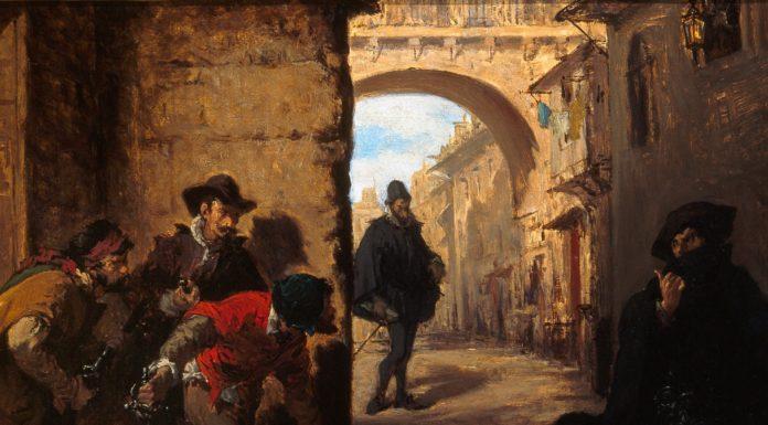 En la imagen, el óleo 'Muerte en Madrid' de Lorenzo Vallés. Museo Municipal, Málaga.