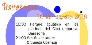 Programa de la Fiesta en Barasona, una de las actividades que preludian los festejos pueblenses 2019