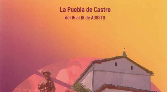 Cartel anunciador d elas fiestas de La Puebla de Castro
