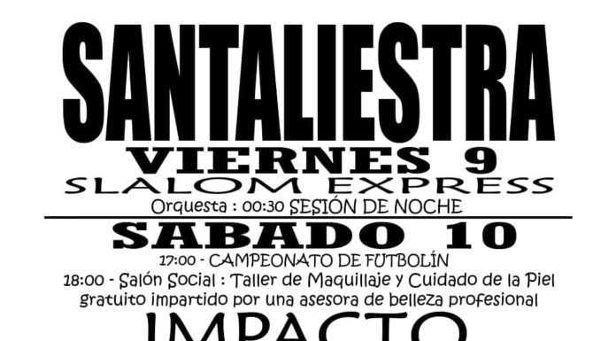 Santaliesta fiestas 2019