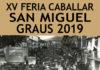 Cartel y programa de la Feria Caballar de San Miguel 2019