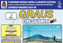 Cartel de la proyección en Graus de la película para el cineforum