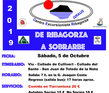 Excursión de DE RIBAGORZA A SOBRARBE 5-10-2019