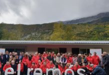 Imagen de grupo de los asistentes a la celebración (Foto: Angel Gayúbar)