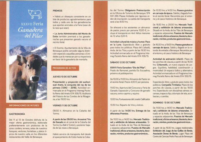Programa Feria Ganadera de Benasque