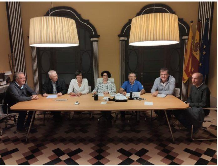 Nueva ejecutiva del PSOE en Graus (Foto: Servicio especial)