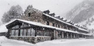 Primera gran nevada de la temporda en el Valle de Benasque (Foto: Jorge Mayoral)