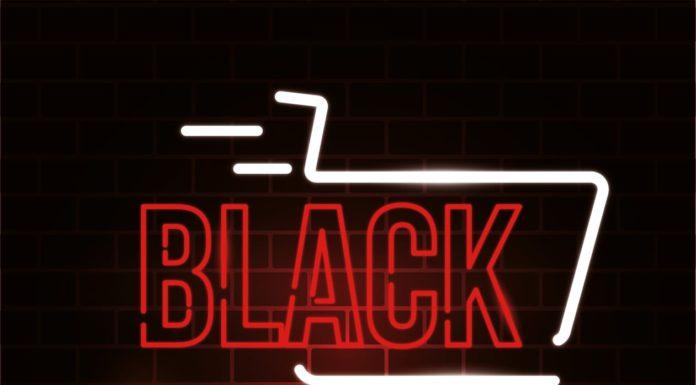 Cartel anunciador del Black Friday del comercio grausino