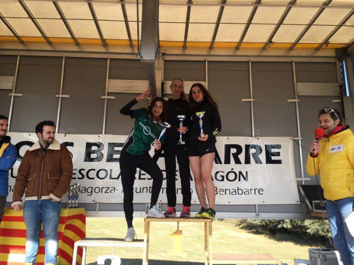 Podio en la categoría absoluta femenina (Foto: SCD Ribagorza)