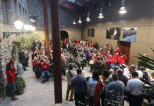 Intérpretes y público en el Palacio de los Condes de Ribagorza (Foto: Héctor Rodríguez)