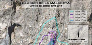 Límite del Glaciar de La Maladeta (Imagen: Confederación Hidrográfica del Ebro)