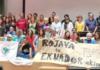 Activistas contra los tendidos eléctricos en el encuentro sobre el Cambio Climático en Madrid (Foto: Servicio especial)