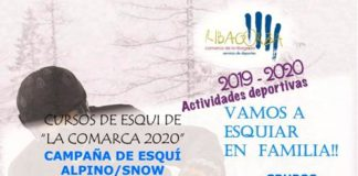 Cartel de la oferta de Esqui Alpino-Snow 2020