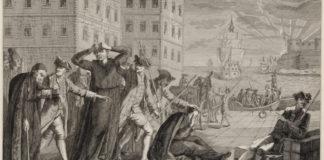 Grabado ilustrativo de la expulsión de los jesuitas en el reinado de Carlos III