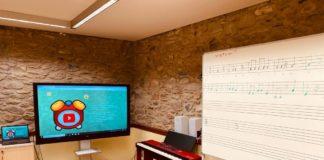 Aula de la Escuela de Música de Benasque (Foto: Servicio especial)
