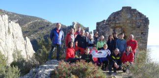 Los excursionistas del CER en la Muralla de Finestras (Foto: CER)