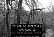 Cartel anunciador del Taller de escritura Graus