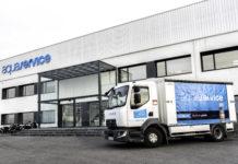 Camión de distribución de los productos de Aquaservice (Foto: Servicio especial