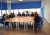 Aliaga en su reunión con empresarios, técnicos y políticos en Graus (Foto: Angel Gayúbar)