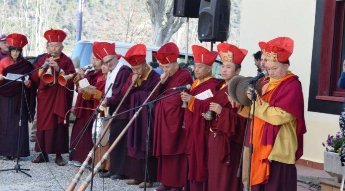Celebracón del Losar en el lamasterio de Panillo (Foto: Angel Gayúbar)