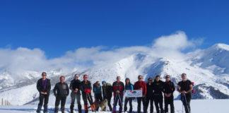 Los excursionistas del CER en el Valle de Boí (Foto: Servicio especial)