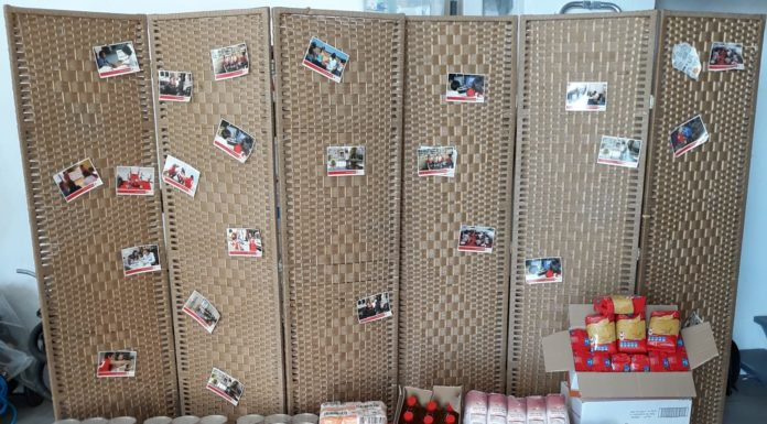 San Lorenzo del Flumen dona alimentos a Cruz Roja Monegros